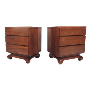 Pair of Mid-Century Nightstands by American of Martinsville