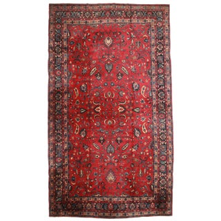 RugsinDallas Antique Hand Knotted Wool Persian Mashad Rug - 11′8″ × 20′7″