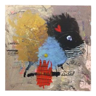 'Happy Chaos' Mixed Media Painting