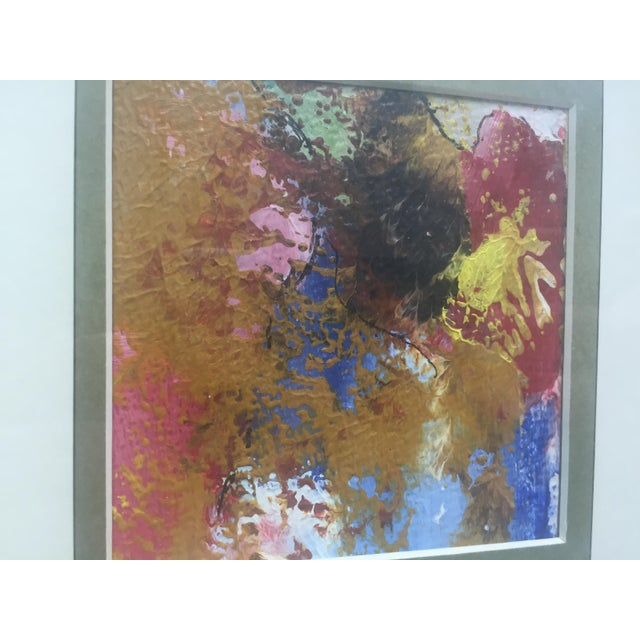 Original Abstract Painting Framed and Matted - Image 4 of 5