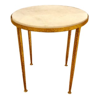 Arteriors Round Hammered Metal Table
