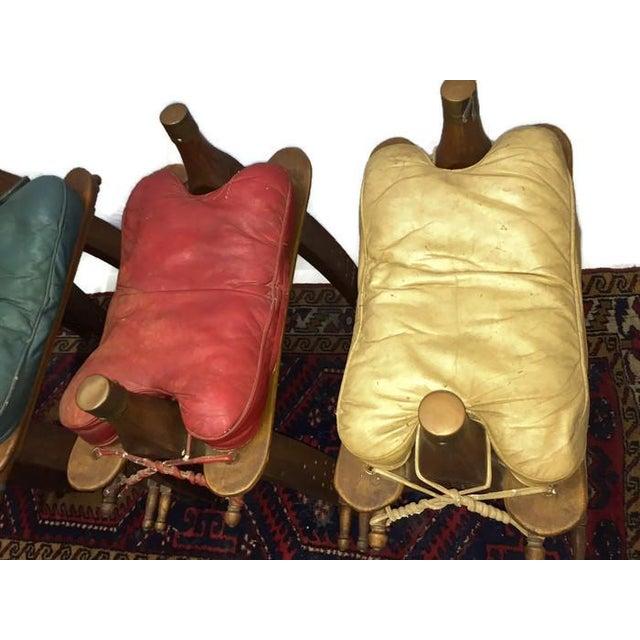Vintage Egyptian Camel Saddle Bar Stools Set - 4 - Image 10 of 10