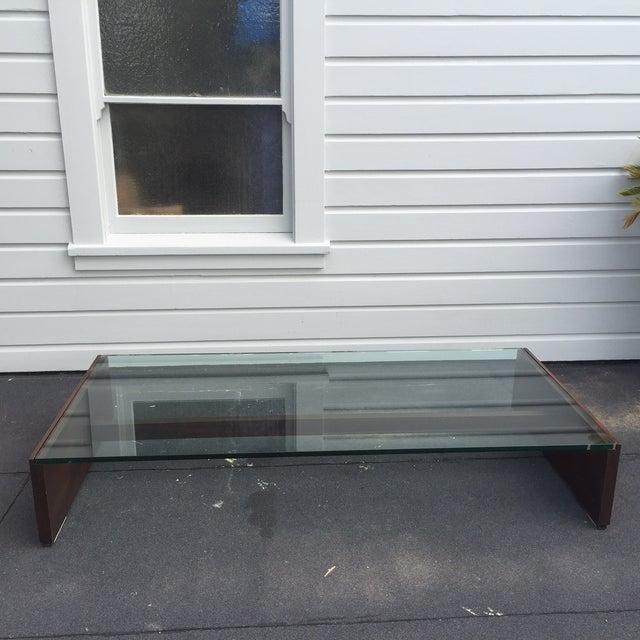 Image of Mahogany & Glass Coffee Table