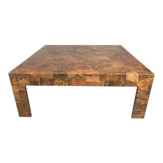 Percival Lafer Copper and Bronze Coffee Table