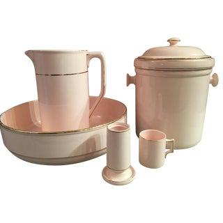 6-Piece Waechtersbach Pink Porcelain Wash Set