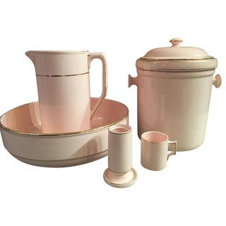 6-Piece Waechtersbach Pink Porcelain Wash Set
