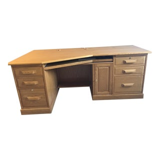 Transitional Solid Oak Desk