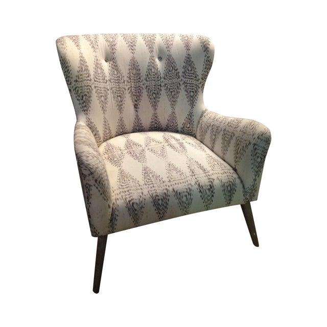 Hardword Frame Lounge Chair - Image 1 of 8