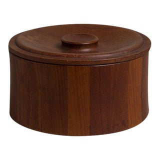 Danish Teak Ice Bucket Designed by Dansk, 1960s Stamped