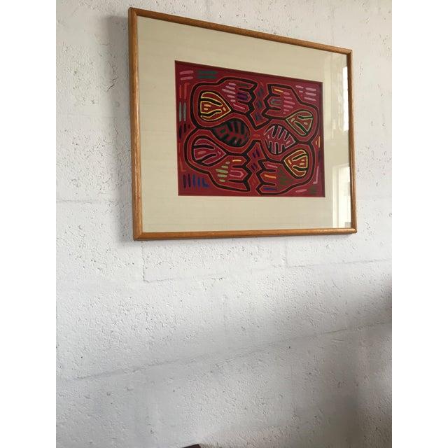Vintage Indian Mola Framed Textile Art - Image 9 of 9