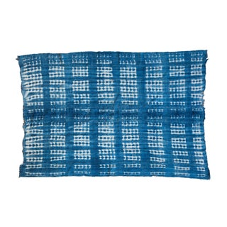 Vintage Batik Blue Throw