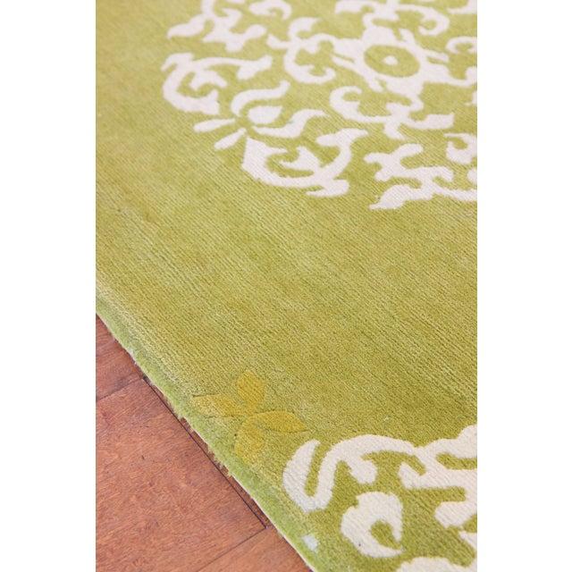 """Madeline Weinrib Green """"Mandala"""" Rug - 6' x 9' - Image 3 of 7"""