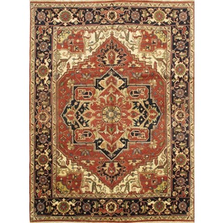 Pasargad N Y Serapi Indian Hand-Knotted Rug - 9'x 12'