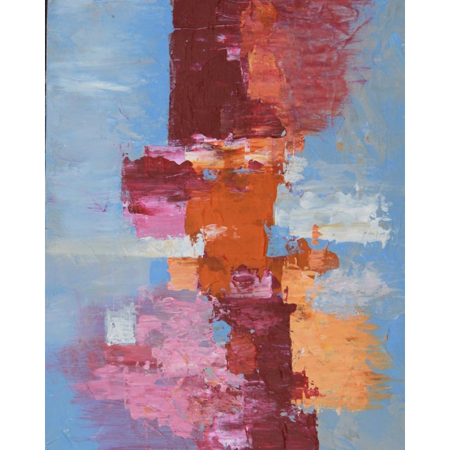 """C. Plowden """"Box Arrangement #1"""" Abstract Painting - Image 2 of 2"""