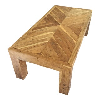 Herringbone Wood Coffee Table
