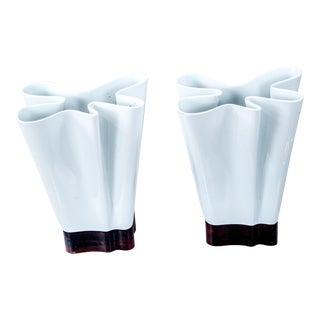 Porcelain Uplight Table Lamps - A Pair