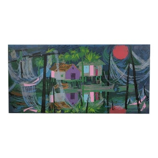 "Aileen Worthley Serigraph ""Blue Lagoon"""