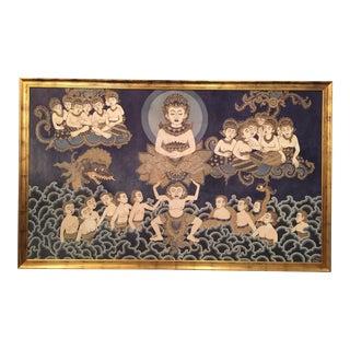 Framed Cultural Theme Indonesian Batik Artwork
