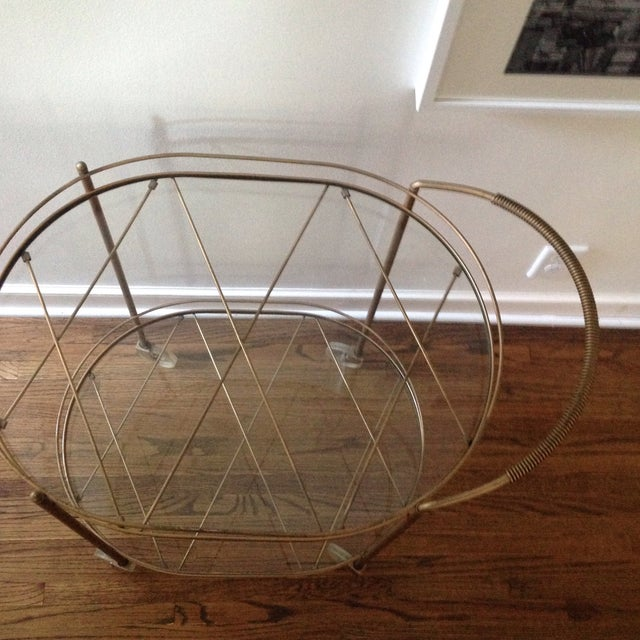 Vintage Brass Bar Cart - Image 8 of 11