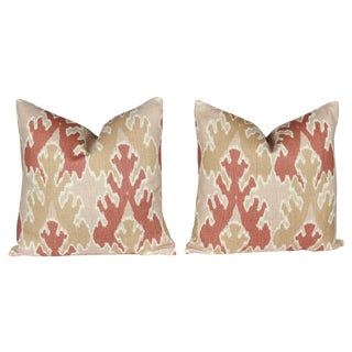 Apricot Bengal Bazaar Pillows - A Pair