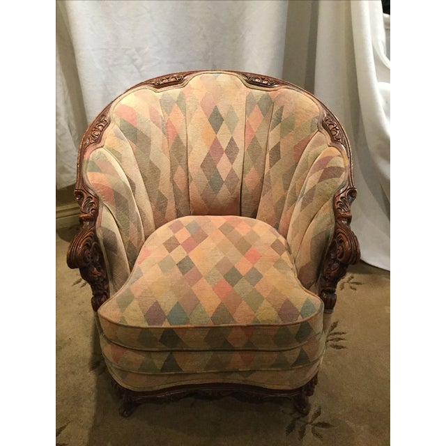 1950s Harlequin Channel Back Chair - Image 3 of 9