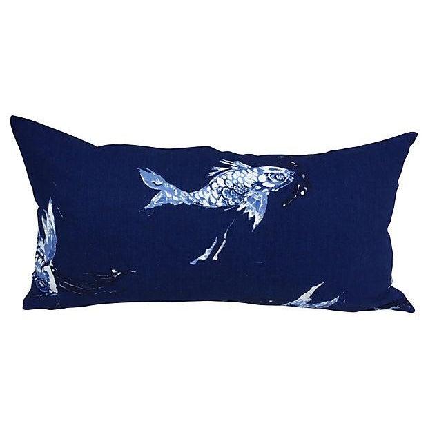 Ralph Lauren Indigo Koi Fish Pillows - A Pair - Image 6 of 7