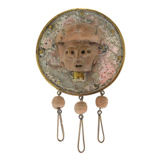 1930s Vintage Annette Mancarrow Mexican Pre-Colombian Fragment Pendant