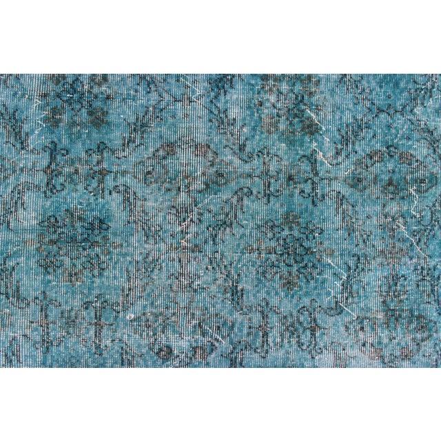 Image of Turquoise Overdyed Rug - 6'7'' x 10'