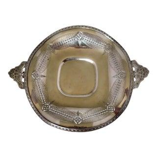 Elegant Wedding Centerpiece Tray Silver-plate 12 x 10 x 1.5H Excellent British English Silver-plate