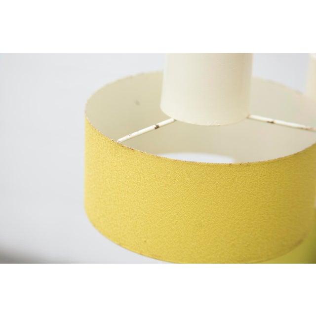 Image of Philips Enameled Metal Trio Pendant Lights, Lemon