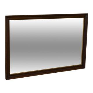 Henkel Harris Solid Mahogany Rectangular Wall Mirror