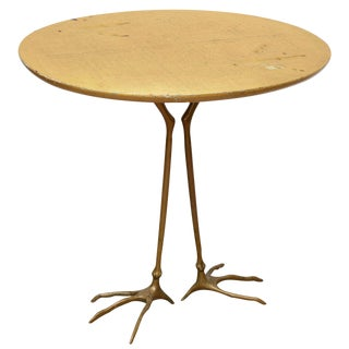 Gold Leaf Traccia Table by Meret Oppenheim