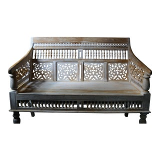 Rajasthan Hand-Carved Bench