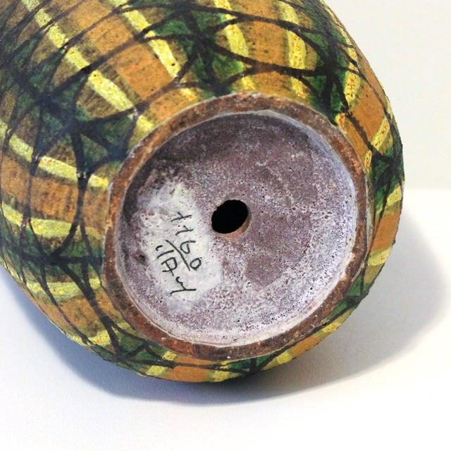 Mid-Century Modern Bitossi Pottery Teak Lamp - Image 7 of 7
