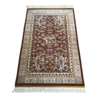 Chinese Hand Knotted Wool Dragon Rug - 6′ × 9′