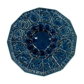 Mid-Century Royal Blue Astrological Ashtray