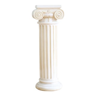 Antique Alabaster Decorative Pillar Made in Greece