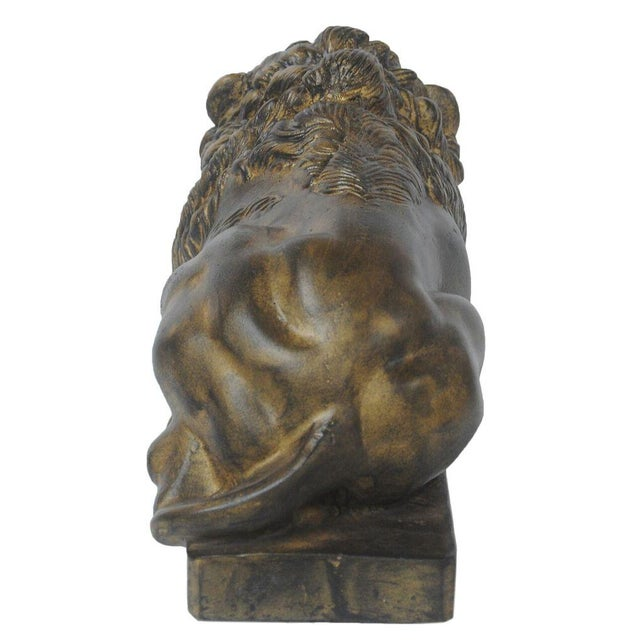 Sarreid Ltd Right Facing Cast Iron Reclining Lion - Image 3 of 3
