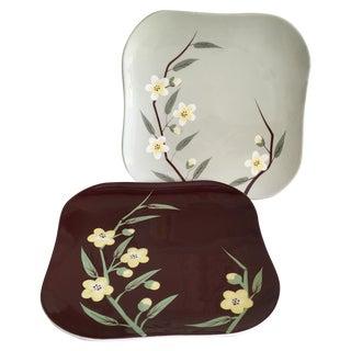 Vintage Cherry Blossom Dinner Plates - Pair