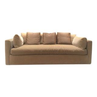 Distressed Mohair Down Sofa