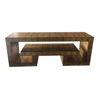 Henredon Gold Leaf Console Table