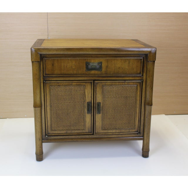 Mid-Century Campaign Style Nightstands - A Pair - Image 5 of 10