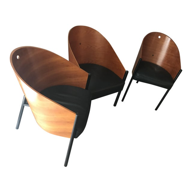 philippe starck caf beaubourg 2 chairs 1 chaise set. Black Bedroom Furniture Sets. Home Design Ideas