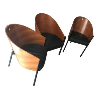 """Philippe Starck """"Café Beaubourg"""" 2 Chairs 1 Chaise - Set of 3"""