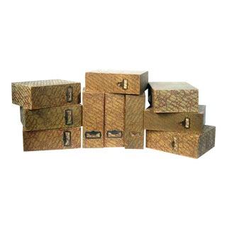 Vintage Storage File Boxes - Set of 10