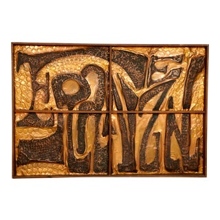 Mid-Century Copper Wall Art
