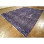 """Image of Purple Overdyed Wool Rug - 9' 7"""" x 12' 9"""""""