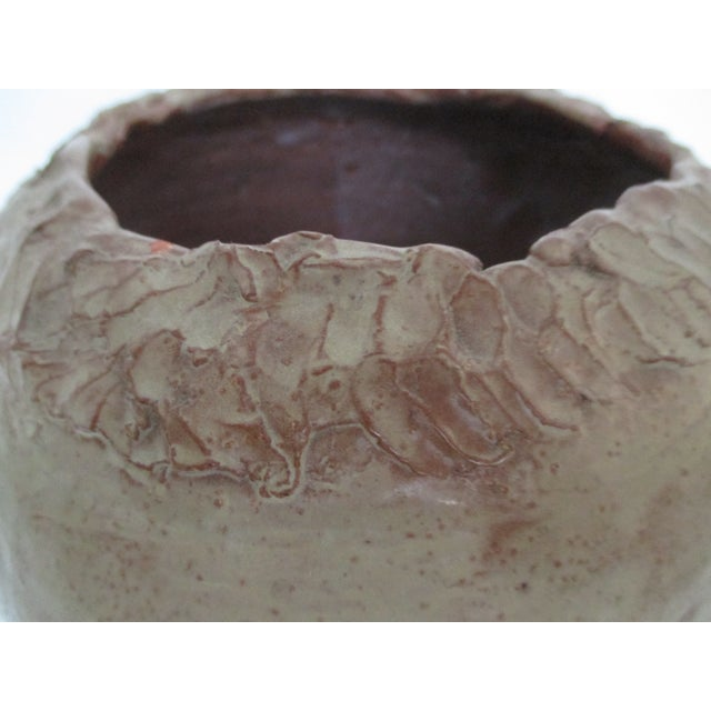 Image of 1970's Artisan Urn Style Vase in Taupe