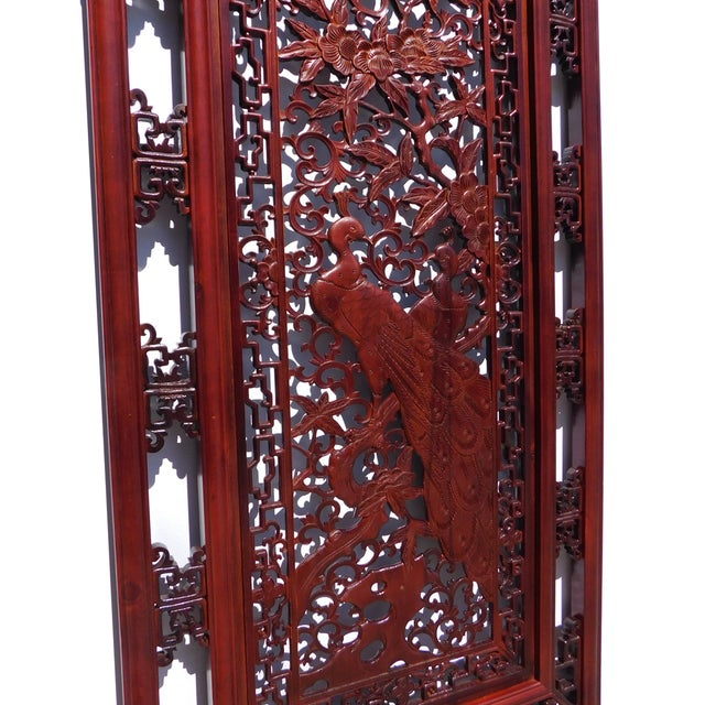 Chinese Decorative Wood Wall Panel - Image 5 of 6