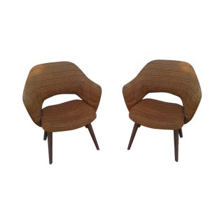 Mid-Century Knoll Checkered Side Chairs - A Pair